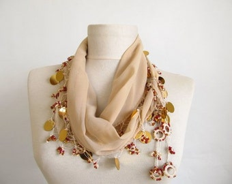 scarf for women - chiffon scarf - lace scarf - scarf sale -  scarf shop