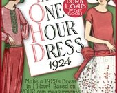 1920s 1 HOUR Dress PDF -make Your own patterns DOWNTON Abbey Great Gatsby  Style - Vintage Flapper era e-booklet