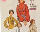 Simplicity 8416 Easy Sew 1960s Vintage Blouse Sewing Pattern Bust 40