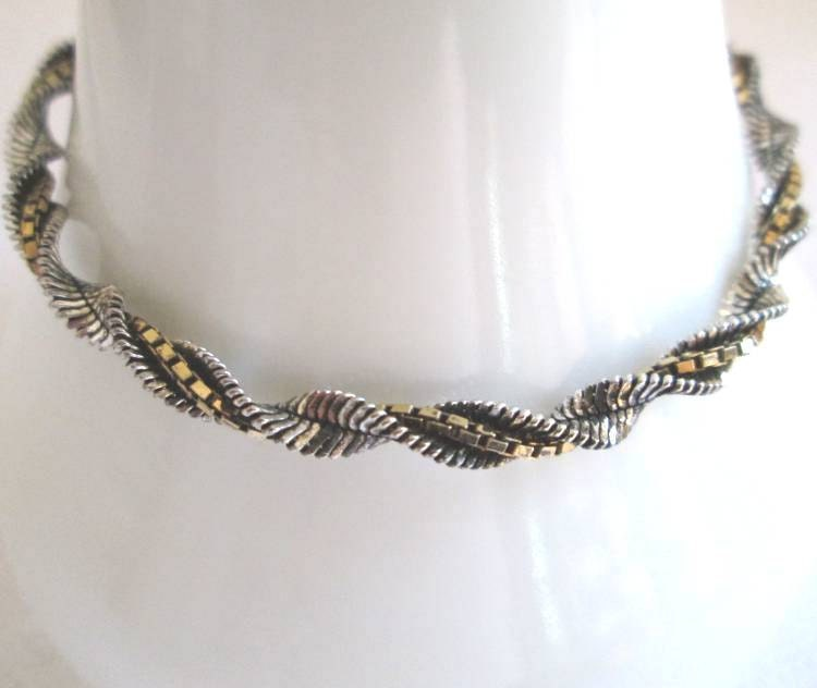 sterling silver twisted herringbone chain bracelet ibb italy