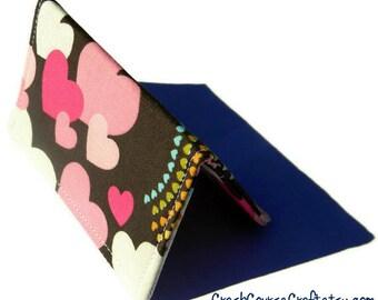 Gift Card Holder, Credit Card Wallet, Business Card Holder, Card Wallet - Chocolate Pink Hearts