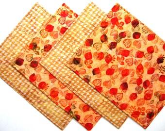 Autumn Placemats - Reversible Placemats - Heat Resistant Placemats - Fall Placemats  - Batik Placemats
