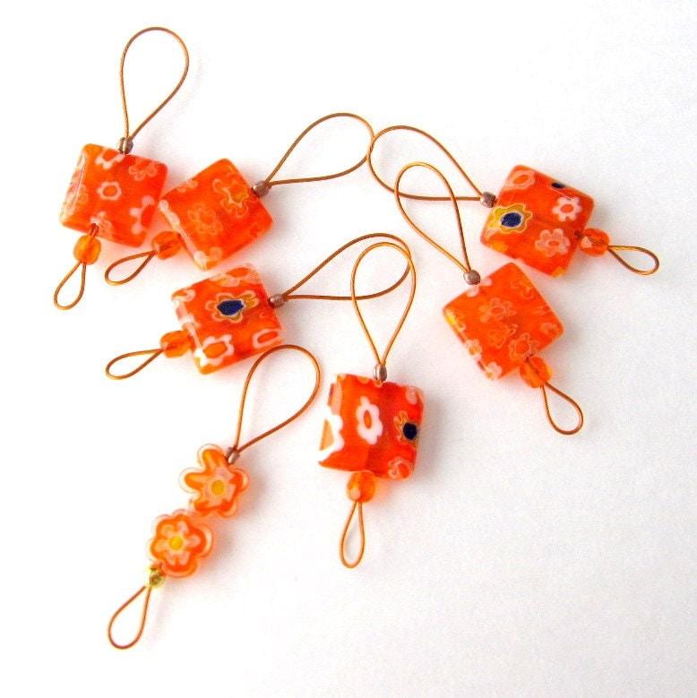 Knitting Stitch Markers Nz : Bead Knitting Stitch Markers Set of 7 Handmade Knitting