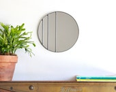 Circle Mirror Handmade Leaded Wall Mirror Round Mirror Oval Ombre Small