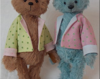 POPPET complete sewing kit for a miniature teddy bear with jacket