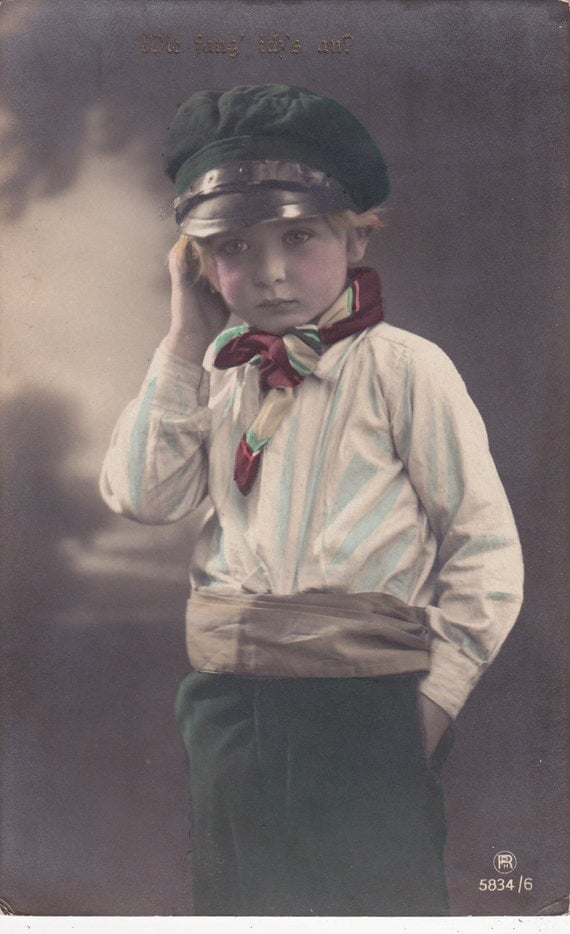 Handsome Edwardian Boy in Sailing Costume..circa 1908