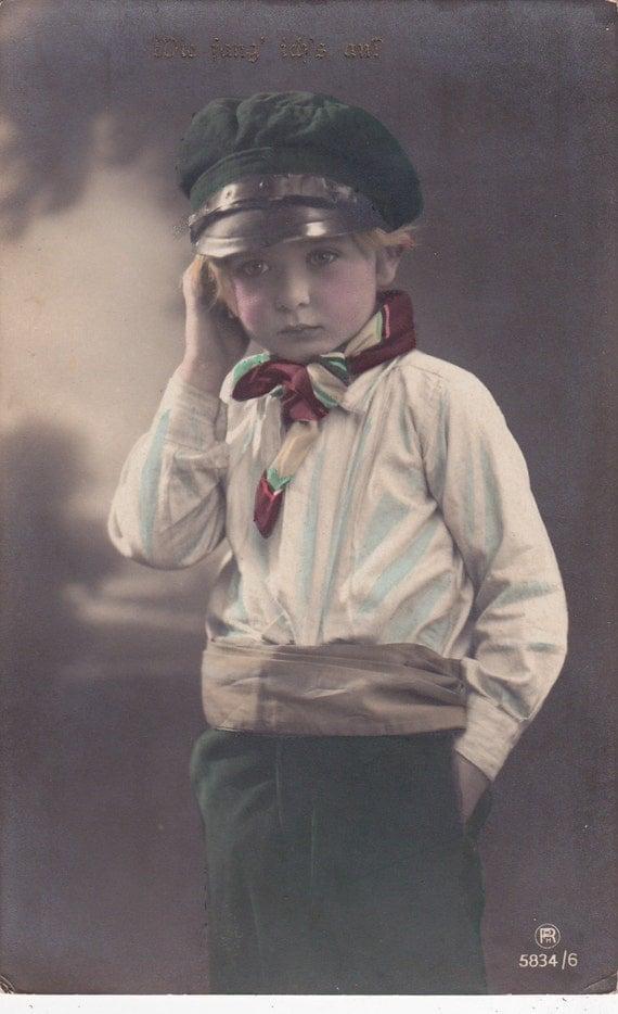 Handsome Edwardian Boy in Sailing Costume..circa 1908