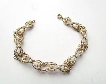 Antique Edwardian Faux Pearl Bracelet c.1910