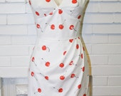 Monroe -Cherry Wiggle Dress- Misfits - Pinup Low Back-Custom Made to Order