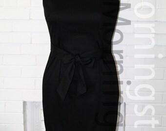 Tiffany's  Day Dress- Holly Black Breakfast Fringe -Custom Made to Size