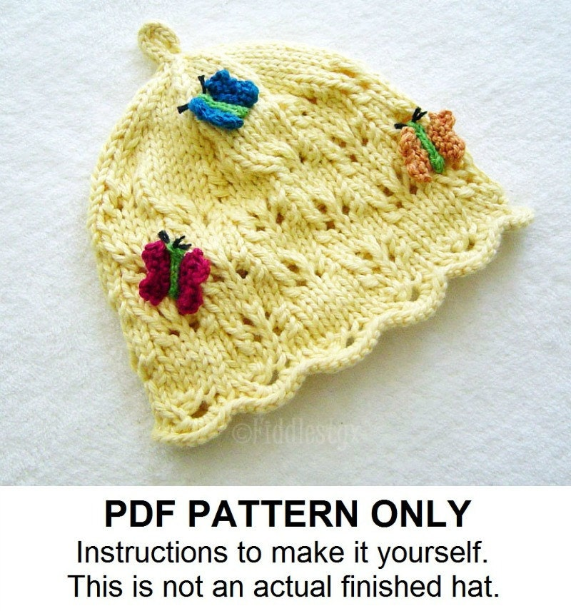 Knit Butterfly Pattern : Knitting Pattern Butterfly Hat Pattern the DIANA Hat