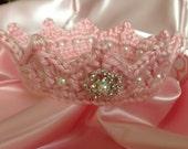 Princess Newborn CROWN Pink Jeweled Photo Prop Tiara
