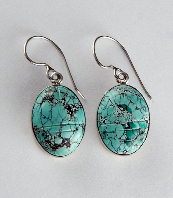 Turquoise Scarab Earrings