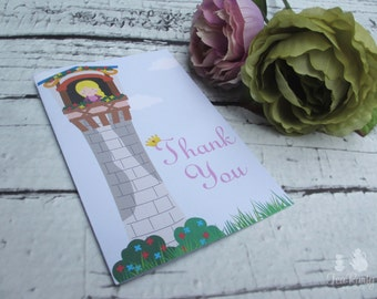 Rapunzel Princess Custom Thank You Notes - Let Down Your Hair Collection