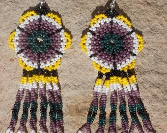 Peyote Stitched Handmade Beaded Earrings
