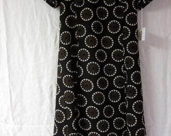 60s Vintage Brown Dress