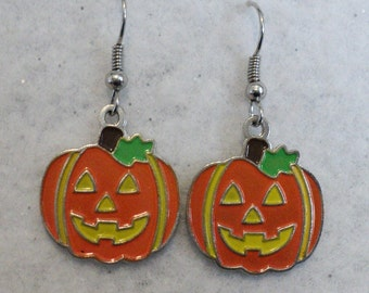 Pumpkin Earrings, Fall Earrings, Holiday Earrings, Charm Earrings, Fall Earrings, Autumn Earrings, Fall Jewelry, Autumn Jewelry