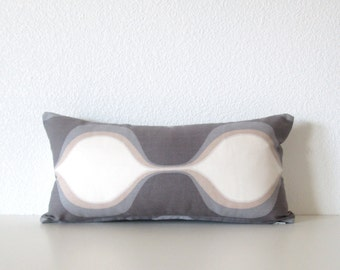 Purple off white ogee 8x16 pillow cover - mini lumbar pillow cover - geometric pillow cover