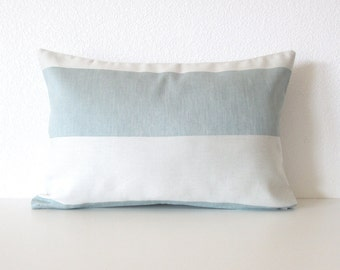 Blue stripes  - 12x18 decorative pillow cover