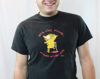 SALE ITEM Vintage Funny Cat Tshirt
