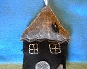 1 Hand-Stitched Haunted House Ornament