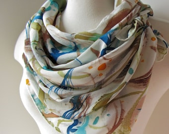 Made to Order: Watercolor abstractions in Linden Green, Lichen, Mykonos Blue...