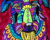 60% Off- Scottish Deerhound Dog Art Scottie Art  Art Print Poster by Heather Galler of Pop Art Painting (HG822)