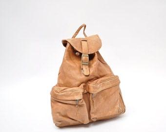 vintage leather backpack leather back pack rucksack ruck sack leather ruck sack leather rucksack distressed