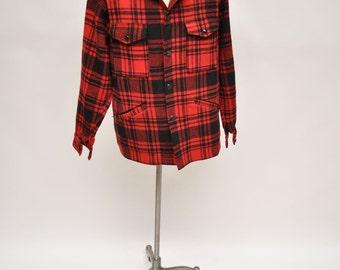 vintage wool PENDLETON wool shirt jacket coat large outerwear