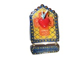 Quite Waters Plaque with Flaming Cross Glitter Wall Art