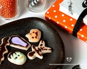 Halloween Cookies 1/12 scale dollhouse miniature