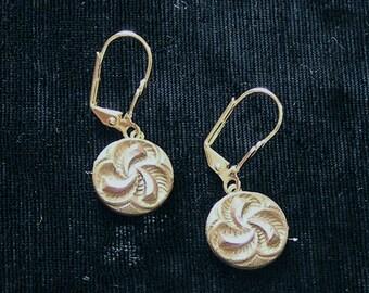 1800s Button Earrings