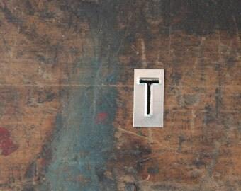 vintage industrial letter T / metal letters / letter art