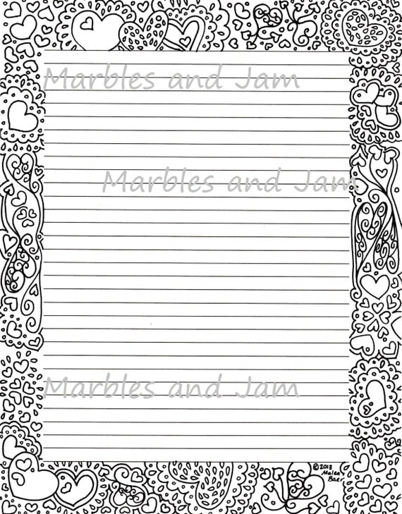 Doc463600 Lined Border Paper Printable Lined Paper with – Free Printable Lined Stationary