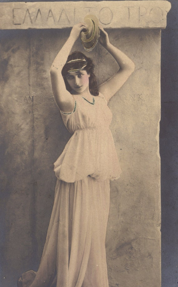 Priestess of Bacchus, Myriel, by Reutlinger, circa 1900