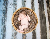 Blanket Chunky Knit Blanket Photography Prop for Baby Children
