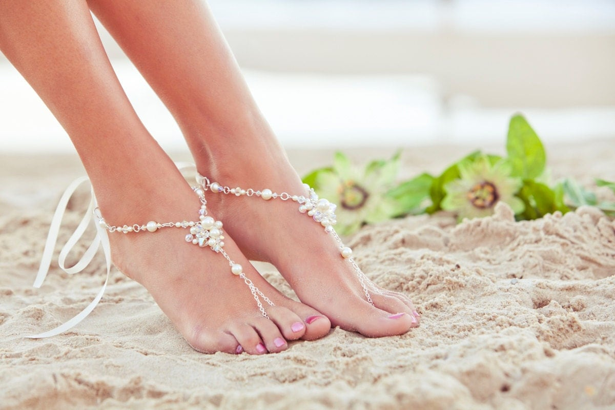 Foot Jewelry Beach Wedding Sandals Bridal Shoes