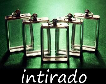 Rectangle Lockets, Diorama, Silvertone, Art and Craft Supplies, Intirado, Terrarium, Shadow Box Pendants, Display Cases, 5pcs, BITCOIN