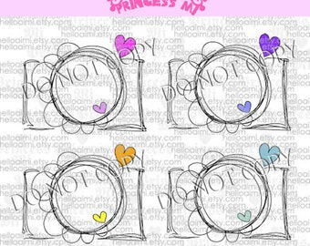 CAMERA clipart set instant download zip file - Digital Camera Clip Art Digital illustration clipart  by princess mi 1256