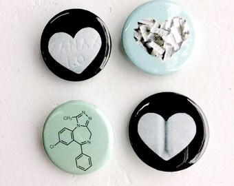 "Xanax 1"" Button Party Pack"