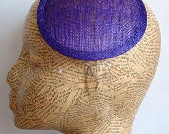 14 cm Sinamay Fascinator Base - Purple