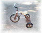 Vintage Garden Trike a hard rubber wheel tricycle photo prop display