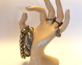 Ring holder, Bohemian ring holder, hand ring display, jewelry Organizer Display, boho ring holder,Wedding Gift Mothers Day gift palm reading
