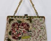 Vintage Joelle Original Handbag, Beaded Design, Embroidery