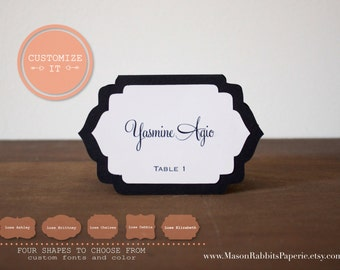 Luxe Wedding Place Cards, Escort Cards - NAME PRINTING INCLUDED - Quantity Discounts