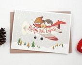 Christmas Card - North Pole Express - Greeting Card