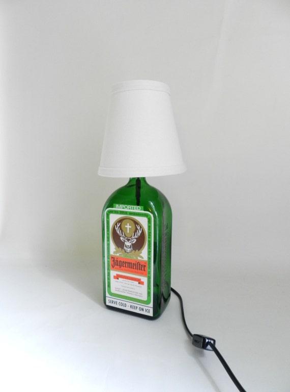 j germeister upcycled flasche lampe von femmesleigh. Black Bedroom Furniture Sets. Home Design Ideas