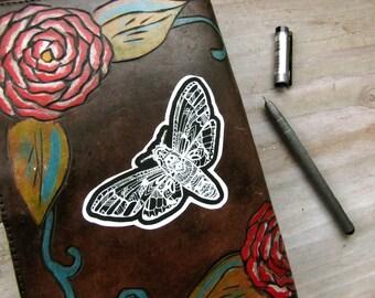 Death Head Moth Decal - Waterproof Sticker