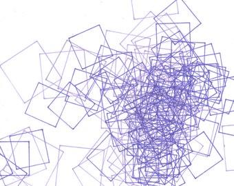 """Repeat 12, small, abstract, original, 8"""" x 10""""  drawing"""