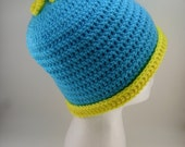 Cartman Inspired Beanie from South Park - Blue and Yellow - FREE US Shipping